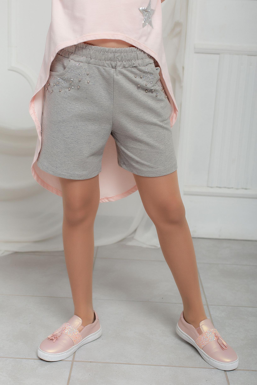 Трикотажные шорты с украшеньями для девочки