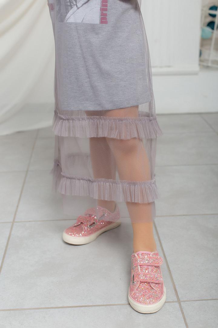 Летнее платье с фатином
