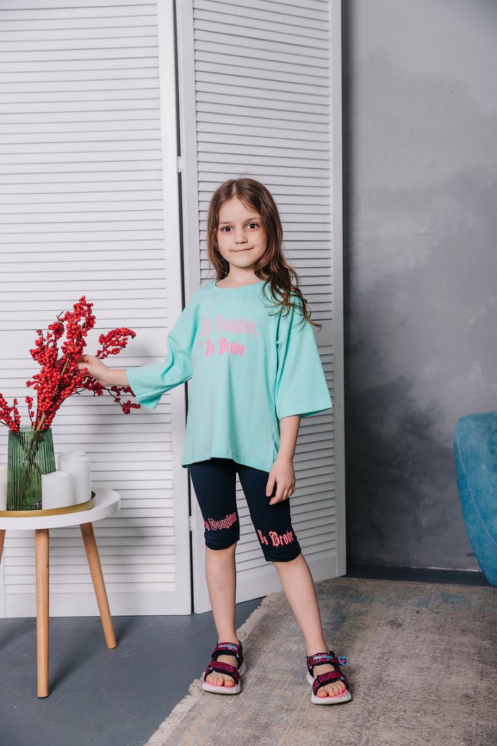 Літній набір з бриджами для дівчинки