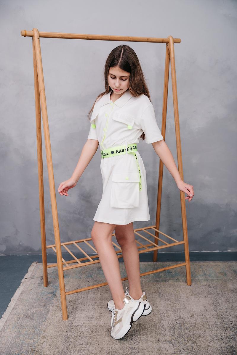 "Летнее платье с поясом ""Be amazing"""