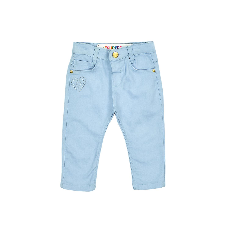 Голубые джинсы с сердечком для девочки