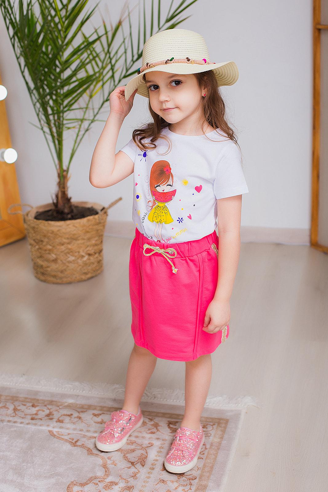 Одежда для девочек 2-5 лет - розовая юбка