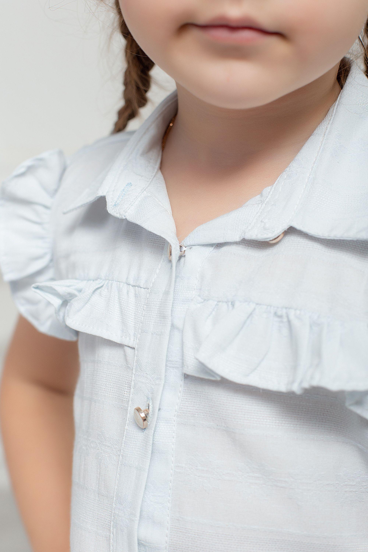 Летняя рубашка с рюшкой для девочки