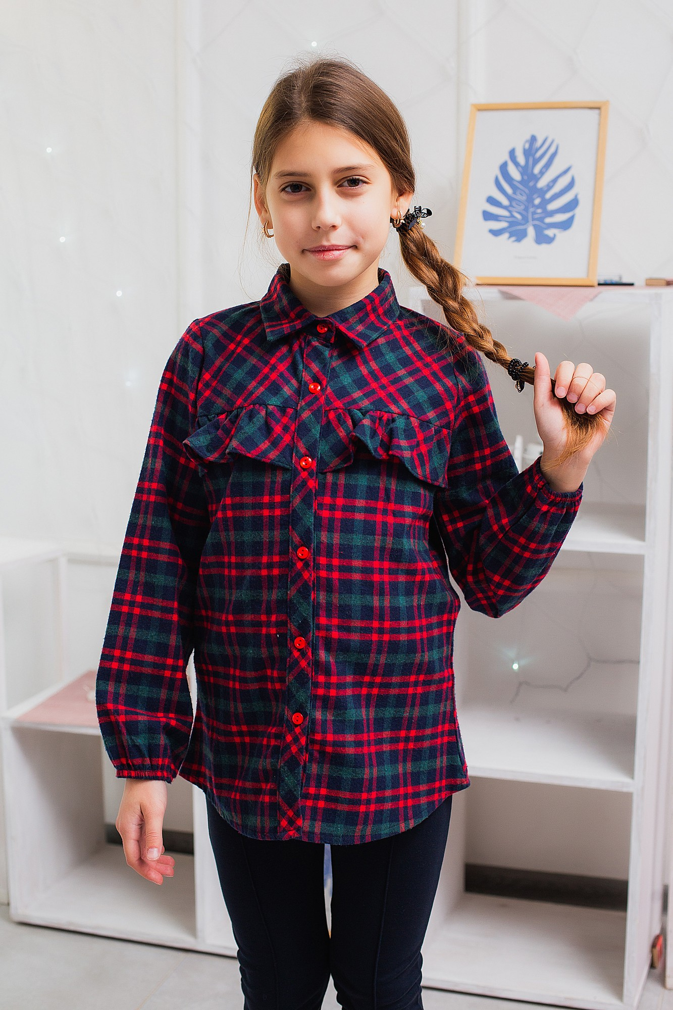 повседневная рубашка для девочки